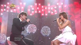 【TVPP】 효린(씨스타) - 'Have yourself a merry little Christmas' with 케이윌 @ 쇼! 음악중심 2012